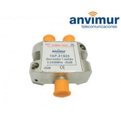 Derivador 5-2400Mhz 1 salida 25dB.