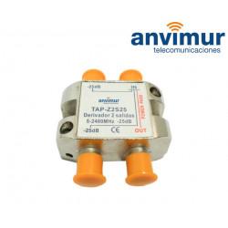Derivador 5-2400Mhz 2 salidas 25dB.
