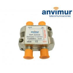 Derivador 5-2400Mhz 2 salidas 30dB.