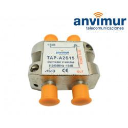 Derivador 5-2400Mhz 2 salidas 15dB