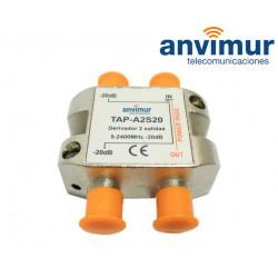 Derivador 5-2400Mhz 2 salidas 20dB