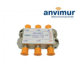 Derivador 5-2400Mhz 4 salidas 12dB