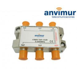 Derivador 5-2400Mhz 4 salidas 16dB