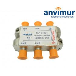 Derivador 5-2400Mhz 4 salidas 24dB