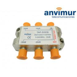 Derivador 5-2400Mhz 4 salidas 30dB