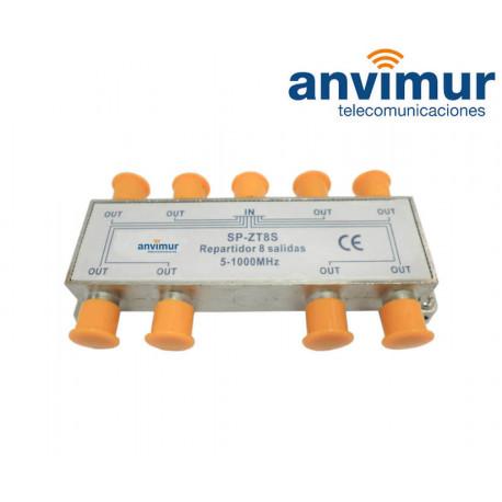 Repartidor 5-1000Mhz 8 salidas Anvimur