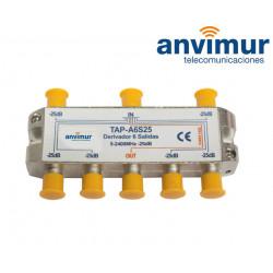 Derivador Anvimur 5-2400Mhz 6 salidas 25dB.