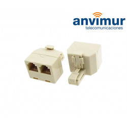 1 Male RJ11 to 2 Female RJ11 telephone adapter