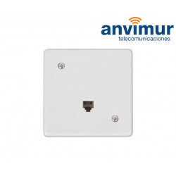 Female RJ11 surface wall outlet