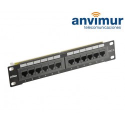 "10"" MINI PATCH PANEL 12 RJ45 UTP C-6 T568A/B"