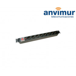 "19"" POWER STRIP WITH 8 SCHUKO + ON/OFF SWITCH"