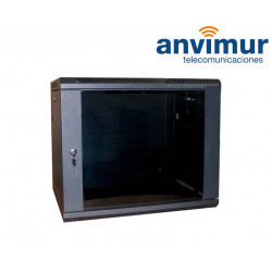 "wall mounted 19"" 9U rack cabinet"