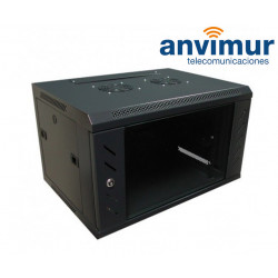 "wall mounted 19"" 6U rack cabinet"