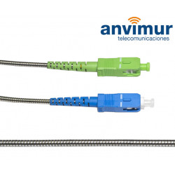 SC/APC - SC/UPC SM9/125 2.5M Ø 2mm armored fiber patch cable