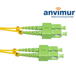 DUPLEX SC/APC - SC/APC SM9/125 10M Ø 2mm fiber patch cable