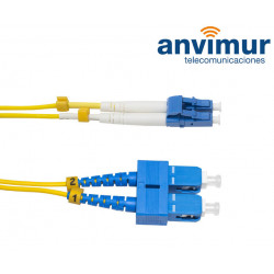 LC/UPC - SC/UPC Duplex 3mts fiber patch cable