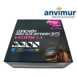 HDMI cable, m/m, 20 m with filters and nylon braided