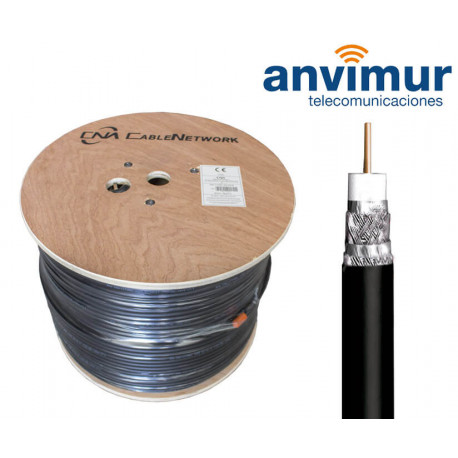 CATV Coaxial Cable Reel Ø10.2mm copper, black