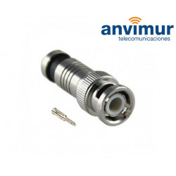 Compression male BNC connector, 6.6mm