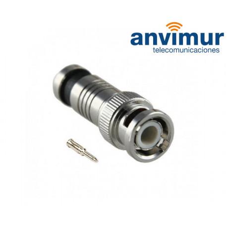 Compression male BNC connector, 6.6mm