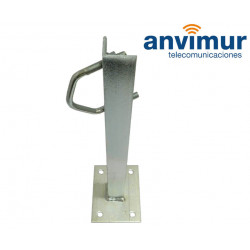 BOLTED WALL CLAMP 30 CM 4 SCREWS