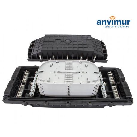 Anvimur Fiber optical closure up to 48 splices, 8 +8 ports