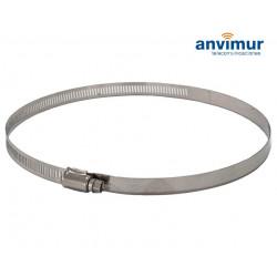 Abrazadera metálica de aluminio para Torpedos en Poste