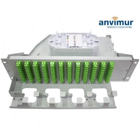 Rotary Fiber Optic Patch Panels 3U with 96 port SC Simplex