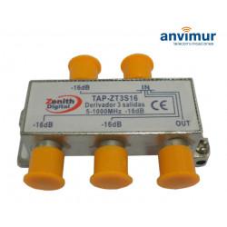TAP 5-1000Mhz 3 outputs 16dB. Anvimur