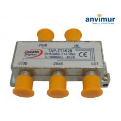 TAP 5-1000Mhz 3 outputs 20dB. Anvimur