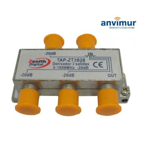 Derivador 5-1000Mhz 3 salidas 20dB. Anvimur