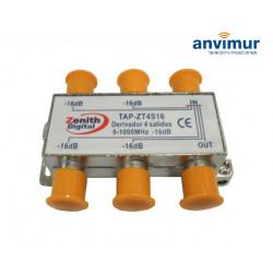 TAP 5-1000Mhz 4 outputs 16dB. Anvimur