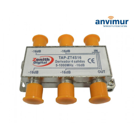 Derivador 5-1000Mhz 4 salidas 16dB. Anvimur