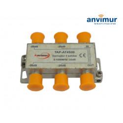 Derivador 5-1000Mhz 4 salidas 20dB. Anvimur