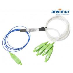 Splitter óptico PLC 1x4 Conectorizado SC/APC