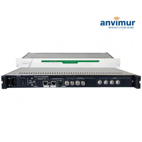 Receptor DVB-S/S2 FTA Salida ASI e IP simultanea