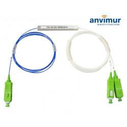 Splitter óptico PLC 1x2 Conectorizado SC/APC