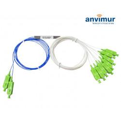 Fiber optic splitter PLC F.O. 2x8 SC/APC connectorized