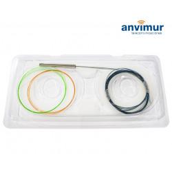 Splitter óptico PLC 2x8 COLORES 250µm Sin Conector