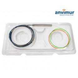 Splitter óptico PLC 2x16 250 micras Sin Conector