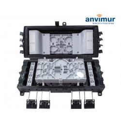 Premium Horizontal Closure for 60 Fusion Splices and 16 direct Output Ports