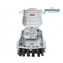 Caja Distribución Premium para 16 Fusiones y 16 Puertos de salida directos