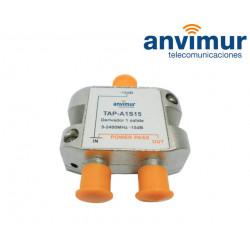 TAP 5-2400Mhz 1 output 15dB. Anvimur