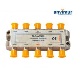 Derivador Anvimur 5-2400Mhz 8 salidas 20dB.