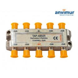 Derivador Anvimur 5-2400Mhz 8 salidas 25dB.