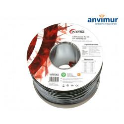 Cable Coaxial RG59 75 Ohm + alimentación | Carrete 100m. Negro