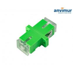 Adaptador Transparente H/H - SC/APC Simplex