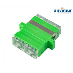 transparent H/H adapter - SC/APC Duplex