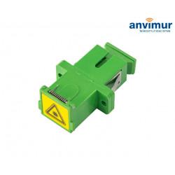 Adaptador con tapa Antipolvo H/H - SC/APC Simplex | ASCAPCS-T
