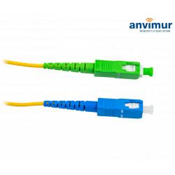 SC/APC - SC/UPC SM9/125 1M Ø 2mm fiber patch cable